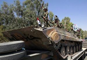 Xe tăng của lực lượng quân sự Syria.