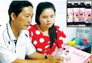"""Ông Trần Phương Thuận, Hội Đông y tỉnh Bạc Liêu cảnh báo về loại thuốc """"chim yến"""" không rõ nguồn gốc (ảnh lớn). Những lọ thuốc """"tăng trọng"""" đáng ngờ (ảnh nhỏ)."""
