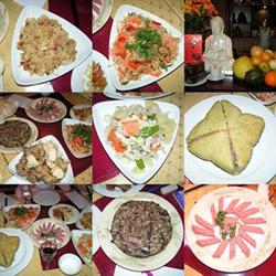 Mâm cỗ ngày Tết thường chủ yếu là các món ăn giàu đạm, béo...
