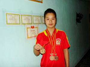 VĐV Nguyễn Thị My đã thi đấu thành công với 1 HCV và 4 HCĐ tại giải quốc gia  năm 2011.