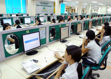 Trung tâm chăm sóc khách hàng của Viettel sẵn sàng giải đáp mọi thắc mắc của khách hàng sử dụng dịch vụ. Ảnh: Internet