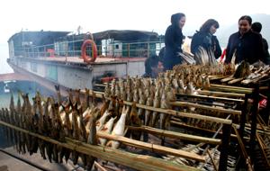 Món cá nướng đặc trưng của vùng hồ Hòa Bình.