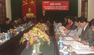 Đồng chí Nguyễn Văn Quang, Phó Bí thư TT Tỉnh ủy,  Chủ tịch HĐND tỉnh phát biểu chỉ đạo hội nghị.