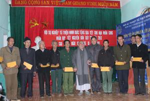 Hội Sự nghiệp từ thiện Minh Đức hỗ trợ 80 suất quà Tết cho người nghèo và NNCĐDC tại TP Hòa bình và huyện Cao Phong.