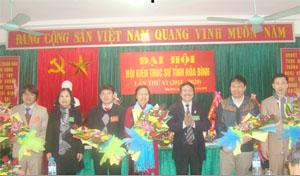 BCH Hội KTS tỉnh Hòa Bình khóa VI, nhiệm kỳ 2015-2020 ra mắt tại đại hội.
