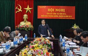Đồng chí Nguyễn Văn Toàn, UVBTV, Trưởng Ban Tuyên giáo Tỉnh ủy, Trưởng Ban VH-XH&DT chủ trì hội nghị.