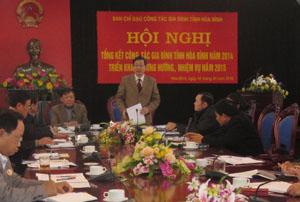 Đồng chí Bùi Văn Cửu, Phó Chủ tịch TT UBND tỉnh, Trưởng BCĐ CTGĐ tỉnh phát biểu kết luận hội nghị.