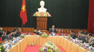 Chủ tịch nước Trương Tấn Sang làm việc với Ban Thường vụ Tỉnh uỷ.