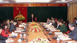 Đồng chí Bùi Văn Tỉnh, UVT.Ư Đảng, Bí thư Tỉnh ủy, Chủ tịch HĐND tỉnh kết luận hội nghị.
