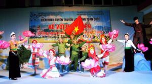 Trung tâm Văn hóa tỉnh tham gia liên hoan tuyên truyền lưu động  toàn quốc kỷ niệm 60 năm chiến thắng Điện Biên Phủ.