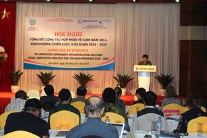 Đồng chí Nguyễn Văn Chương, Phó Chủ tịch UBND tỉnh phát biểu tại hội nghị.