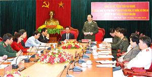 Đại tướng Trần Đại Quang, Ủy viên Bộ Chính trị, Bộ trưởng Bộ Công an làm việc với BTV Tỉnh ủy