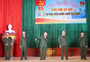 Tiết mục tham gia đêm giao lưu của chi đoàn Ban CHQS huyện Kỳ Sơn.