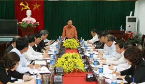 Đánh giá thực chất, đề ra giải pháp khả thi xây dựng Báo cáo Đại hội Đảng bộ tỉnh lần thứ XVI, nhiệm kỳ 2015-2020