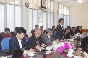 Đồng chí Phạm Lê Tuấn, Thứ trưởng Bộ Y tế kết luận tại buổi làm việc