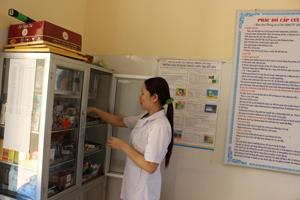 Trạm y tế xã Trung Bì (Kim Bôi) có cơ sở vật chất đạt chuẩn, đảm bảo chăm sóc sức khoẻ ban đầu cho nhân dân trên địa bàn