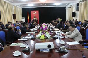 Đoàn công tác Bănglađét làm việc với UBND tỉnh