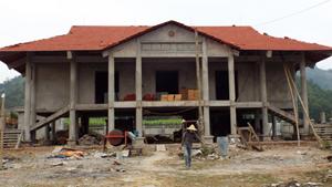 Nhà văn hóa xã Thu Phong (Cao Phong) được đầu tư xây dựng đáp ứng nhu cầu sinh hoạt cộng đồng của nhân dân.