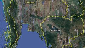 Hình ảnh khu vực Thái Lan, Campuchia trên Google Earth