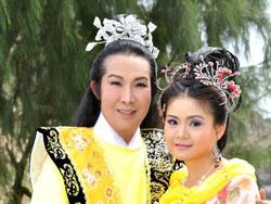 Vũ Linh (vai hoàng tử), Trinh Trinh (vai cô Tấm) trong vở Tấm Cám .
