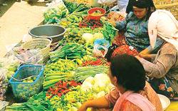 Giá thực phẩm tăng cao là một trong những nguyên nhân đẩy chỉ số giá tiêu dùng Indonesia lên cao