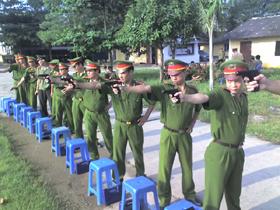 Phong trào luyện tập TDTT được phát triển sâu rộng trong lực lượng Công an tỉnh.