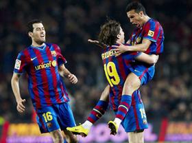 Barcelona đã giành 3 điểm khá nhọc nhằn tại Nou Camp
