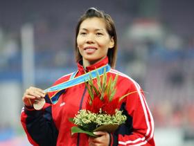 Thành tích của những VĐV điền kinh như Vũ Thị Hương là điểm sáng hiếm hoi của TTVN ở Asian Games 16.