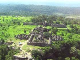 Khu vực đền Preah Vihear.