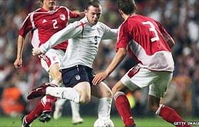 Anh từng thảm bại 1-4 trước Đan Mạch hồi năm 2005