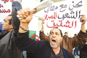 Người biểu tình xuống đường tại thủ đô Alger, Algeria