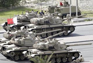 Xe tăng tại thủ đô Manama của Bahrain