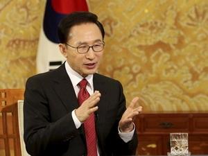 Tổng thống Hàn Quốc Lee Myung-bak.