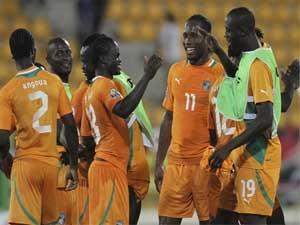 Cote d'Ivoire với sự góp mặt của ngôi sao Drogba đang là ứng cử viên lớn nhất cho chức vô địch CAN 2012. (Nguồn: Reuters)