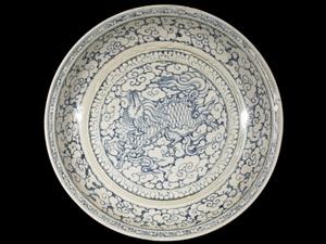 Một sản phẩm gốm trong bộ sưu tập gốm Việt Nam tại Bảo tàng Nghệ thuật Birmingham. (Ảnh: Đỗ Thúy/Vietnam+).