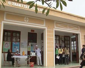 Trạm y tế xã Vĩnh Đồng (Kim Bôi) được xây dựng khang trang đáp ứng nhu cầu khám, chữa bệnh cho người dân.