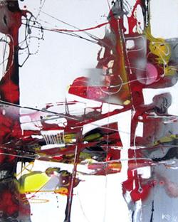 Tác phẩm Thời gian trôi qua của họa sĩ Kasabov.