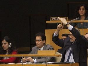 Đại sứ Syria tại Liên hợp quốc phản ứng trong phiên họp ngày 16/2.