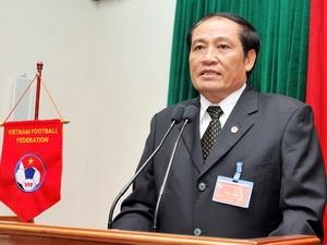 Ông Nguyễn Trọng Hỷ, Chủ tịch liên đoàn bóng đá Việt Nam.
