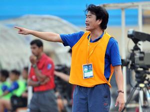 HLV Phan Thanh Hùng của Hà Nội T&T, một trong những ứng viên sáng giá cho chức danh HLV trưởng đội tuyển Việt Nam. Ảnh: HẢI ANH