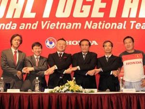 Honda Việt Nam sẽ đồng hành cùng bóng đá Việt Nam. (Ảnh: Xuân Huy/Vietnam+)