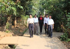 Hệ thống đường GTNT được cứng hóa tạo bộ mặt khang trang, sạch đẹp cho xã Mai Hạ (Mai Châu). ảnh chụp tại xóm Lầu, xã Mai Hạ.