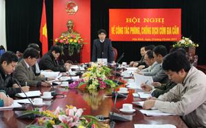 Đồng chí Nguyễn Văn Dũng – Phó Chủ tịch UBND tỉnh kết luận hội nghị.