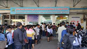 Một Trung tâm đăng ký lao động cho người nước ngoài tại tỉnh Tak, Thái-lan.