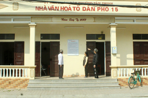 Nhờ sự vận động của Bí thư chi bộ Nguyễn Thị Mến cùng ban chi ủy, nhà văn hóa tổ 15, phường Tân Thịnh (TPHB) đã được hoàn thiện với tổng trị giá gần 300 triệu đồng.