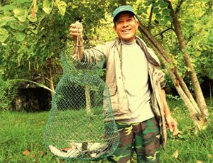 Thành quả của ông Viên, phường Tân Thịnh (TP?Hòa Bình) là mấy kg cá vền sông.