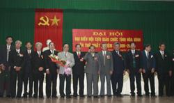 Ban chấp hành Hội Cựư giáo chức tỉnh gồm 15 thành viên ra mắt Đại hội