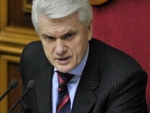 Chủ tịch Quốc hội Ukraine Vladimir Litvin phát biểu trong phiên họp ngày 2/3.