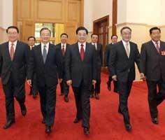 Các nhà lãnh đạo cấp cao Trung Quốc tham dự kỳ họp quốc hội.