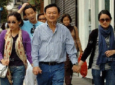 Gia đình ông Thaksin Shinawatra.